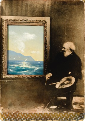 Portrait of the artist Ivan Aivazovsky (1817-1900), 1889. Artist: Anonymous