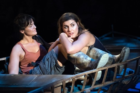 Rachel Zampelli and Maria Rizzo in The Gulf. (photo by Margot Schulman)