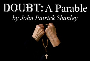 Praying hands. Free space for a text. Front view